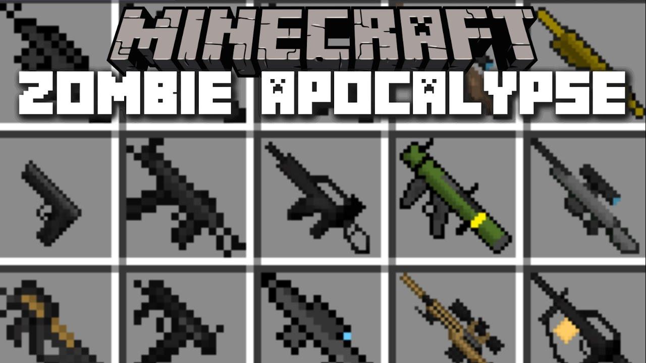Minecraft ZOMBIE APOCALYPSE MOD SURVIVE THE DREADED ZOMBIE INVASION Minecraft YouTube