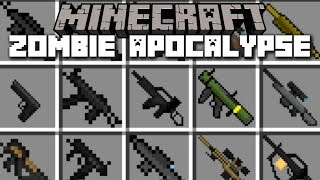 Minecraft ZOMBIE APOCALYPSE MOD / SURVIVE THE DREADED ZOMBIE INVASION!! Minecraft
