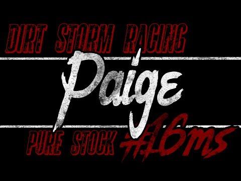 May 20, 2017 Desert Thunder Raceway - Paige Stanworth #16ms Pure Stock
