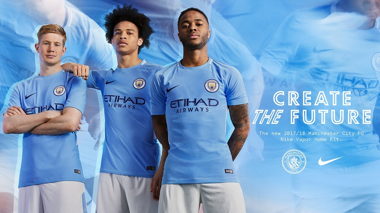 Man City: MAN CITY & NIKE 2017/18 HOME KIT LAUNCH