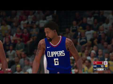 NBA 2K18 Los Angeles Clippers vs Indiana Pacers Gameplay PS4