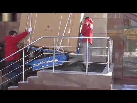 АНТЭК – перевозка рояля с помощью транспортера Pianoplan (Тюмень, февраль 2016 года)