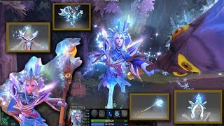 Best Mix Set Crystal Maiden Frost Avalanche with Yulsaria's Mantle/Glacier  / White Sentry