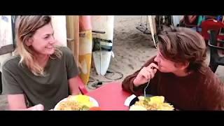 Amor Infinito Vegan Restaurant in Montanita Ecuador - Located on the Beach, next to the River