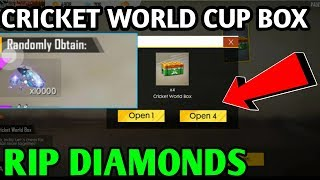 Free Fire Cricket World Cup box 10000 diamonds how to get ? Wasting diamonds |HINDI| JORAWAR GAMING