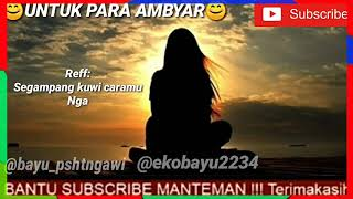 Download DENY CAKNAN-TANPO TRESNO LIRIK(Editor bayu)