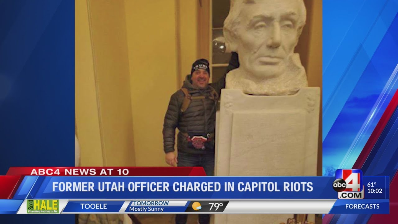 Former SLCPD Officer is 2nd Utahn arrested for the insurrection at Capitol building