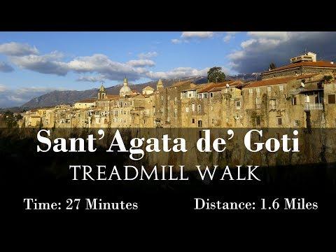 Sant'Agata de' Goti Virtual Treadmill Walk