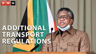 Speaking during a media briefing by the economic cluster, Transport Minister Fikile Mbalula outlined additional regulations for the transport industry during South Africa's lockdown.  #Covid19SA #Taxis #FikileMbalula