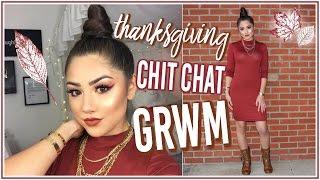 Thanksgiving Chit Chat GRWM: Makeup, Hair & Outfit! ♡ Adyel Juergensen