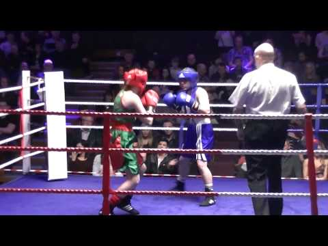 Chelsea Heaps v Laura Hammond 17th Jan 2014 Keighley Girls Amateur Boxing 51kg