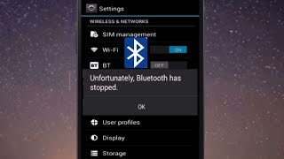 How to Fix Unfortunately Bluetooth Has Stopped Error in Android