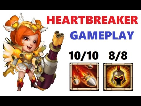 MAXED Heartbreaker Gameplay Review Best Talent Castle Clash New Hero