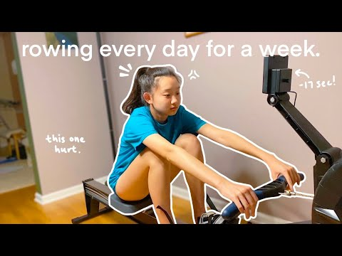 I tried ROWING 1000m EVERY DAY for a week! *actual results*