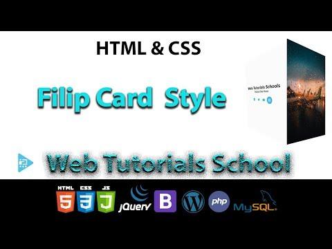 Filip Card  Style HTML & CSS | Web Tutorials School