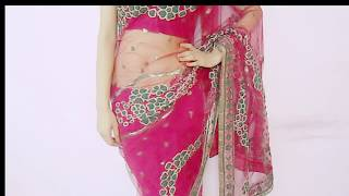 Repeat youtube video How To Drape Net Saree - How To Wear Party Saree / Sari Wraping Tutorial