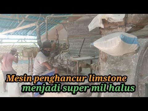 Penghancuran Batu Kapur/limstone Menjadi Super Mil Halus Dan Putih
