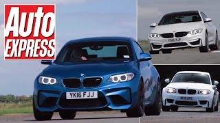 BMW M2 vs 1M Coupe vs M4 track battle: two-door M car triple test!