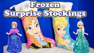 FROZEN Disney Elsa & Anna Surprise Stockings a Disney Frozen Surprise Video