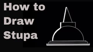 Draw a Vehera , Stupa in Temple