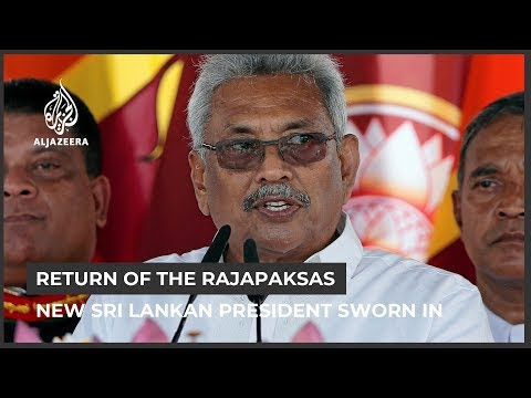 Gotabaya Rajapaksa sworn in as Sri Lanka's new president