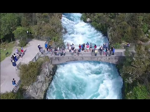 Thumbnail: Huka Falls New Zealand by drone