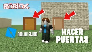roblox studio as you make a door tutorial in Spanish 🤓