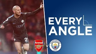 SUPERB PASSING GOAL | Every Angle | David Silva v Arsenal