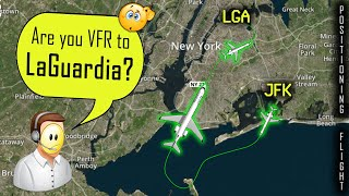 New York Controllers CONFUSED with A FLIGHT FROM JFK to LGA!