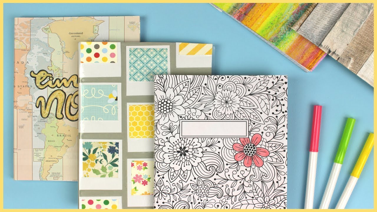 Art Decoration Magazine English 5 Easy Diy Ideas To Decorate Your Notebook Covers For Back To School