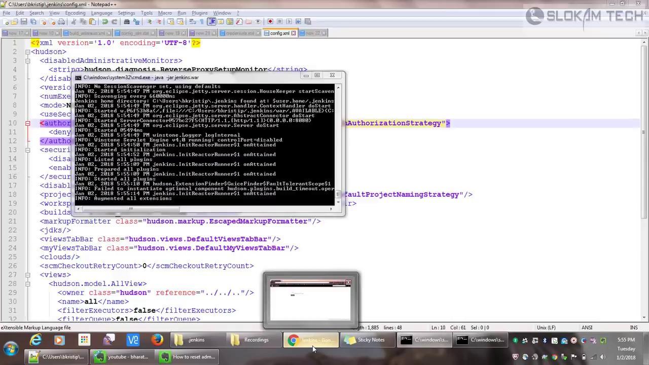 Jenkins - Disable Authentication | Windows | Password Reset | ReConfigure  Admin User
