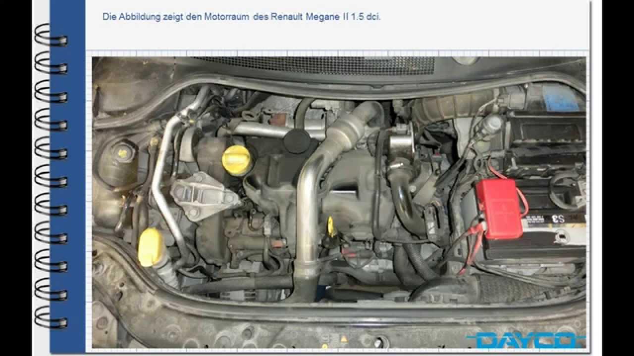 Montage Steuerriemenkit Renault Megane II 15 dci  Motor