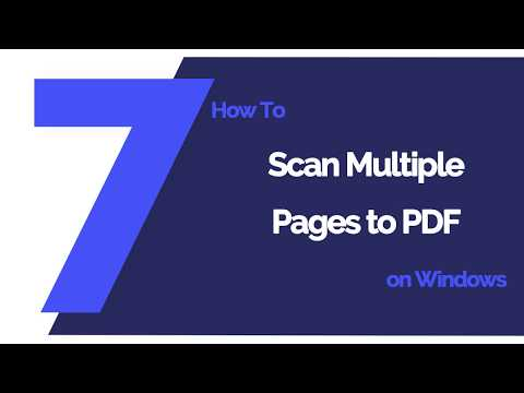 How To Scan Multiple Pages To PDF On Windows | PDFelement 7