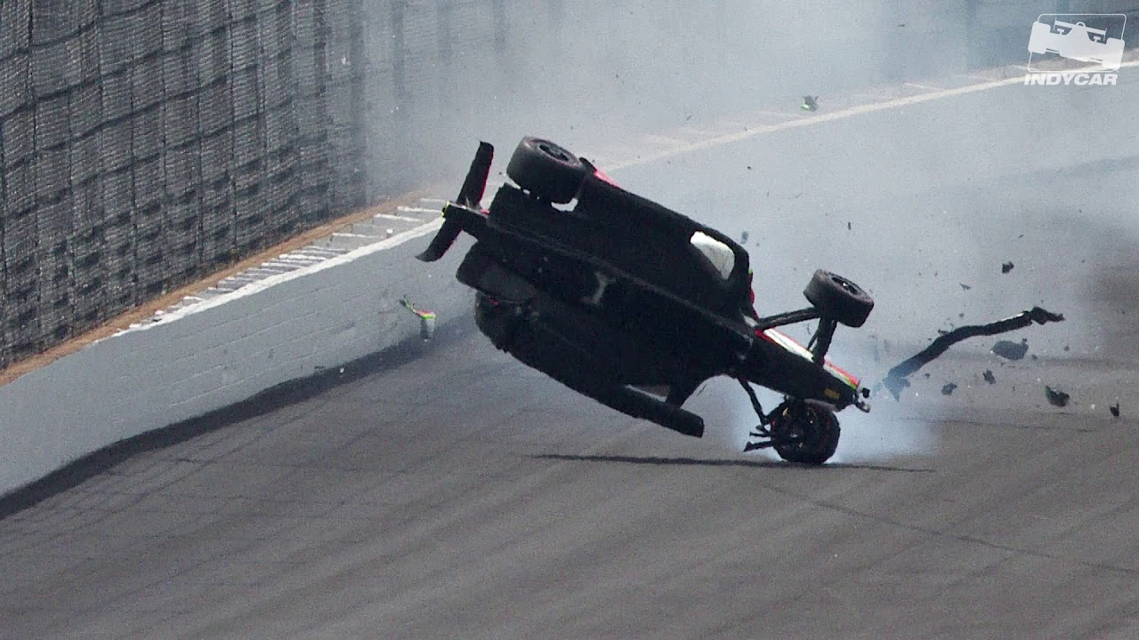Raw Video: Patricio O'Ward crashes during 2019 Indy 500 practice