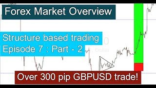 Forex Market Overview # 2 (300pip GBPUSD trade) Structure based trading : episode - 7 : part - 2