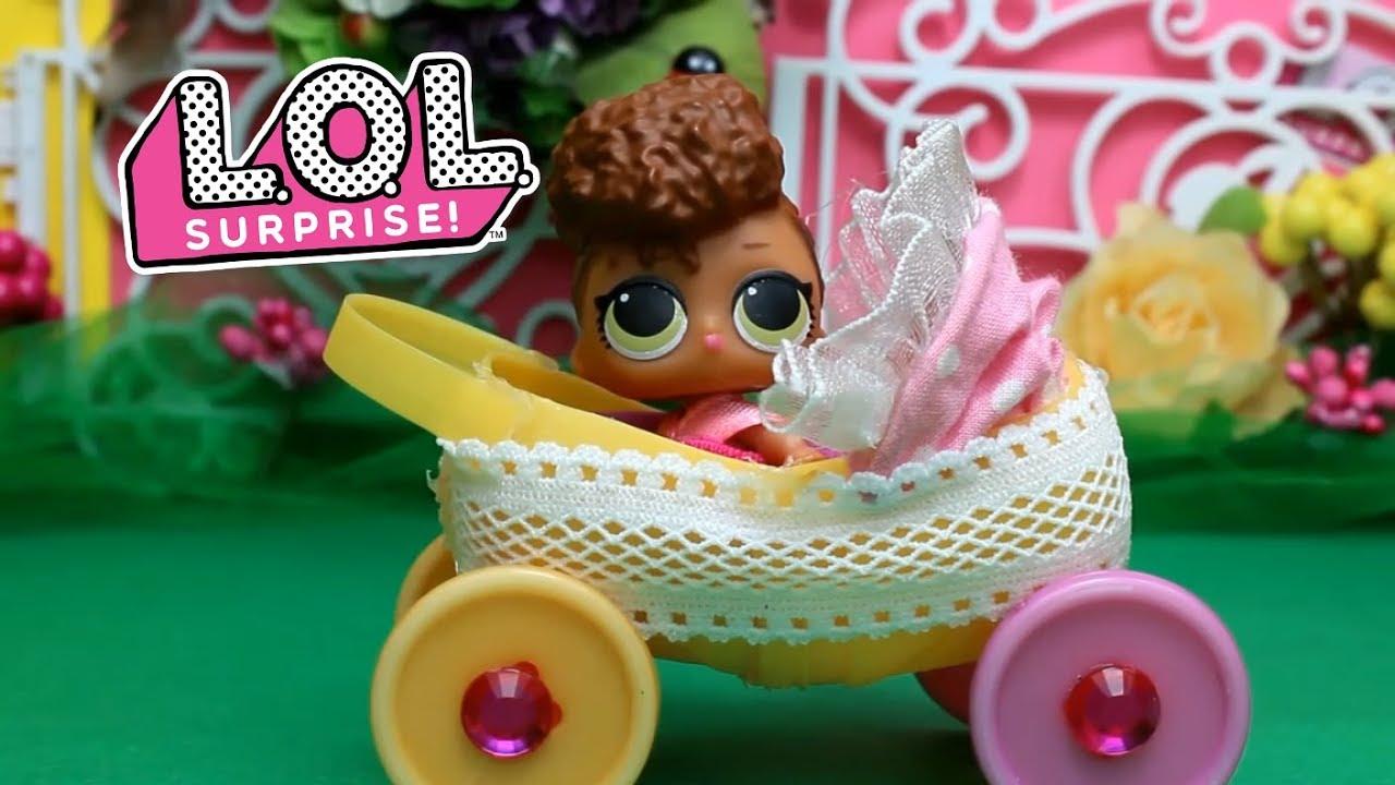 Коляска для кукол LOL Surprise . КУКЛЫ ЛОЛ малышки ...