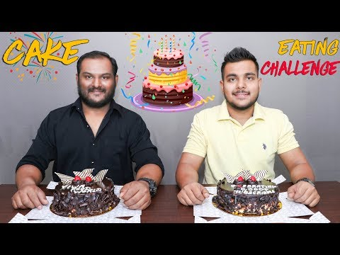 50,000 SUBSCRIBERS SPECIAL | CAKE EATING COMPETITION | Food Challenge