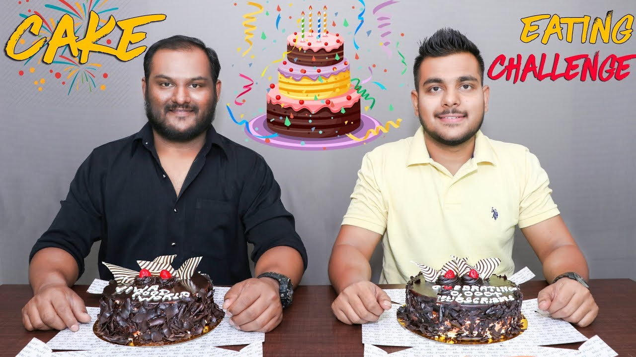 50000 SUBSCRIBERS SPECIAL CAKE EATING COMPETITION Food
