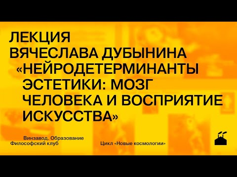 4.04 Лекция Вячеслава Дубынина «Нейродетерминанты эстетики: мозг человека и восприятие искусства»