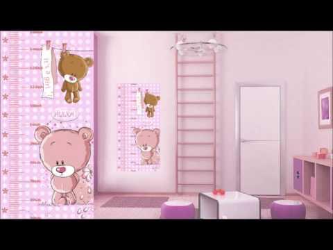 Reglas medidoras de estatura para ni os y ni as - Dibujos para habitaciones de bebe ...