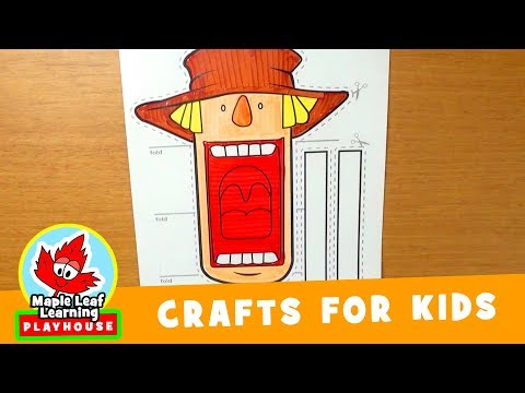 Halloween Scarecrow Craft for Kids | Maple Leaf Learning Playhouse