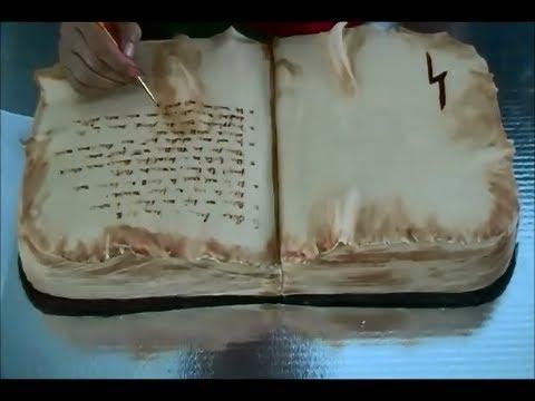 Pastel 3d libro de pociones parte 1 recetasdeluzma - Como hacer un libro hueco ...