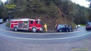 Жуткая авария в США и работа аварийно спасательных служб.