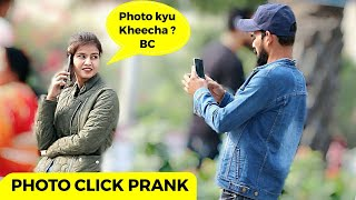 Clicking Cute Girl's Photo Prank | Bhasad News | Pranks in India