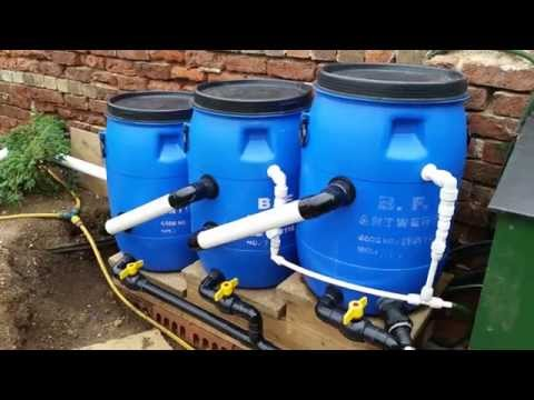 Cheap diy bio pond filter that works doovi for Pond water purification system