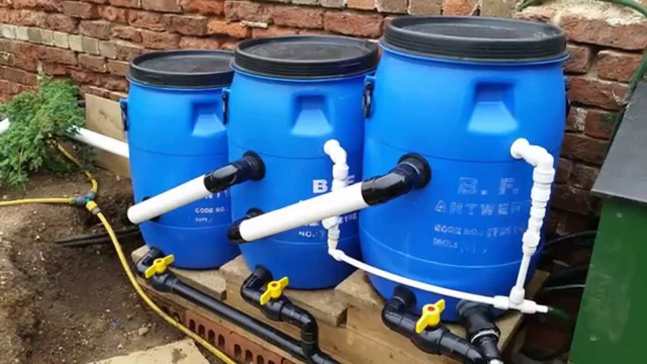 The new diy pond midi filter system youtube for Koi pond filter setup