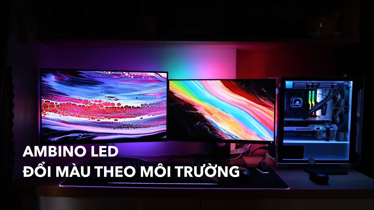Trên tay LED dán màn hình Ambino: dễ lắp, ambiance quá đẹp luôn