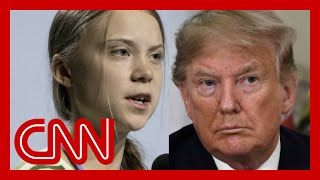 Trump mocks Greta Thunberg on Twitter A CNN panel debates a tweet by President Donald Trump attacking climate activist Greta Thunberg after she was named Time magazine's Person of the Year., From YouTubeVideos