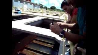 Processo de filtração e desinfecção.