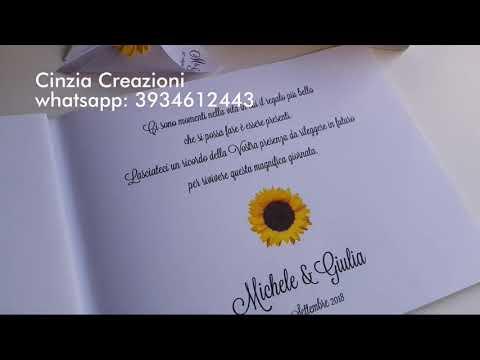 Guestbook Matrimonio Girasoli : Guestbook matrimonio girasole youtube